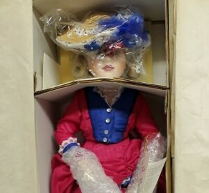 "Rare Marie Osmond 18"" Porcelain Doll Eleanor Somewhere in Time 1994 w COA NRFB"