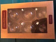 Six Glass Ball Fillable Ornaments New