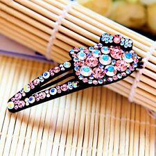 Hair Clip Bobby Pin using Swarovski Crystal Hairpin Hello Kitty Cat AB Pink