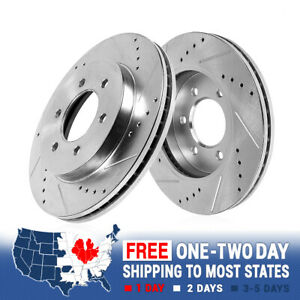 For Buick Enclave Chevy Traverse GMC Acadia Front Drilled & Slotted Brake Rotors