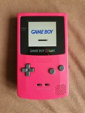 Nintendo Game Boy Color watermelon red with backlight mod