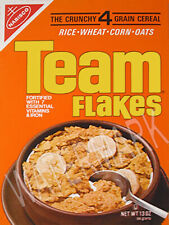 Team Flakes Cereal High Quality Metal Magnet 2.25x4 inches 8907