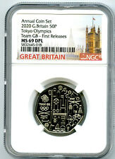 2020 GREAT BRITAIN 50P NGC MS69 DPL TOKYO OLYMPICS TEAM GB FIRST RELEASES RARE