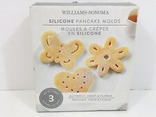 WILLIAMS-SONOMA SILICONE PANCAKE MOLDS BUTTERFLY, HEART & FLOWER Spring Summer
