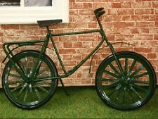 De Metal Verde Bicicleta Casa de muñecas en miniatura Bicicleta 1.12 Escala