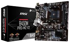 MSI B450M PRO-M2 V2 Socket AM4 AMD B450 SATAIII USB3.0 Micro-ATX Motherboard