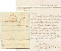GB 1807 GENERAL POST PAID with SMALL CIRCLES LETTER to COBB MARGATE