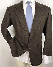 Hart Schaffner Marx Tweed Herringbone Weave Wool Blazer Sport Coat Jacket 42R