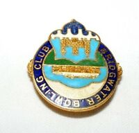 VINTAGE ENAMEL BRIDGWATER  BOWLING CLUB BROOCH / BADGE / PIN