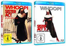 Sister Act 1 + 2 - Whoopi Goldberg - Blu-ray - *NEU*