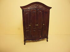 Quality 1:24 scale Dolls House Furniture Double Wardrobe 24/65
