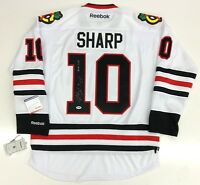 PATRICK SHARP SIGNED & INSCRIBED CHICAGO BLACKHAWKS 2010 CUP JERSEY PSA/DNA
