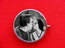 LILY HERMAN MUNSTER KISS RING TRINKET STASH ROUND MINT METAL PILL BOX CASE
