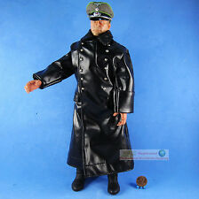 1:6 FIGURE GERMAN General Commander Cigarette Winter Leather Trench Coat WF_6P