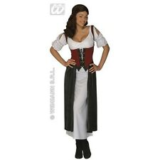 Medium Adult's Tavern Wench Costume - Pirate Medieval Ladies Fancy Dress 10-12