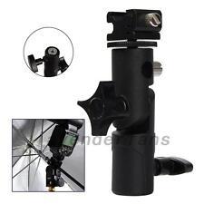 Flash Type E Hotshoe Umbrella Holder Swivel Bracket Mount Light Stand for DSLR