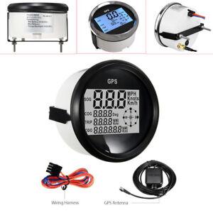 9-32V GPS Digital Speedometer Odometer Gauge Car Truck Marine 85mm 306 S.S+ABS