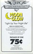 vtg condom machine decal sticker vending NOS Moon Glow 75 cents novelty