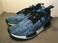 Men's Adidas NMD R1 PK Blue Camo BA8598 Sneakers Boost (8UK) VERY RARE