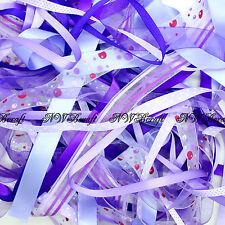 10 x 1 Metre Bundle of Mixed Ribbon Off Cuts Xmas Gift Wrapping Arts and Crafts
