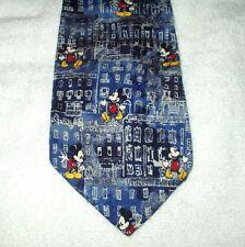Tie Novelty Cartoon Disney Mickey Mouse Buildings Repeat Pattern