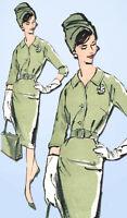 1960s Vintage Advance Sewing Pattern 9547 Misses Raglan Dress Size 16 36B
