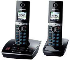 Panasonic KX-TG 8062 2 Handset Cordless Phone with Answer Machine Black