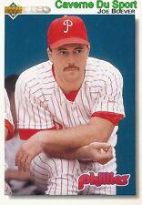 402 JOE BOEVER PHILADELPHIA PHILLIES BASEBALL CARD UPPER DECK 1992