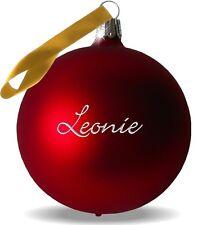Weihnachtskugel mit Name graviert ! Echte Glaskugel mit Gravur Dein Wunschname