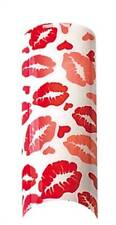 Cala Airbrushed Nail Tips White & Red Kisses 87730+Nail Glue+Aviva Nail File