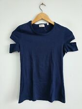 Helmut Lang Italy vintage 1998 90's blue ladies tshirt XS RARE