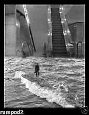 Scott Mutter Poster/Art Print..The Escalator Photo Montage/1984/17x22 inches