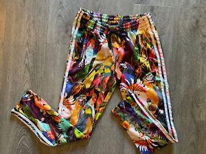 Adidas Parrot Bird X Farm Passaredo Trefoil Track Pants Cropped Tropical XS