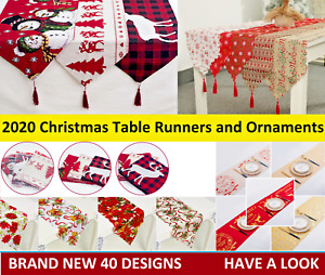 Christmas Table Runner Ornaments Christmas Decorations for Home New Year 2020