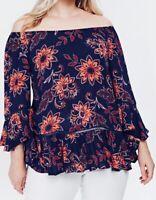 Ladies Evans Summer Top Plus Size 24 26 28 30 Floral blouse RRP £26  (PS204)