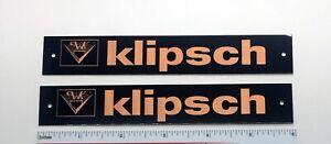 Klipsch Speaker Badge Metal Custom Pair Large Copper with screws Free Shipping