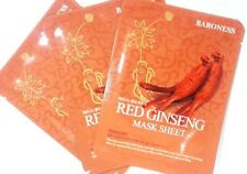 Baroness red ginseng mask pack 3pcs facial essence sheet made in Korea all skin