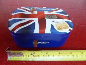 WALKERS BUTTER SHORTBREAD TIN,with UNION FLAG,EMPTY