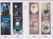 2 marque-pages plastifiés Thème CHAT lot N°51