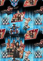 WWE 2 SHEETS OF GIFT WRAP AND 2 GIFT TAGS UNDERTAKER SETH ROLLINS ROMAN REIGNS