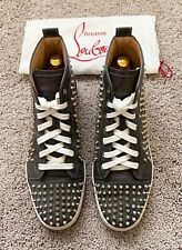 Authentic Christian Louboutin Louis Spikes Grey Mens Sneaker US10.5 EU43.5 UK9.5