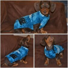 """Handmade Fleece Panthers 14""""Dog Sweater (S/xs) for a Dachshund puppy (2-3months)"""