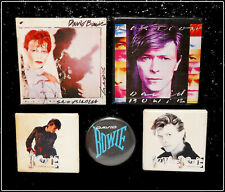 David Bowie Lot Of 5 80's Original Buttons Pin Badges Scary Monsters / Fashion