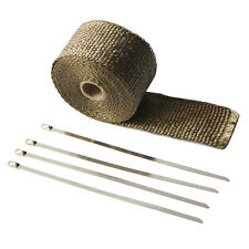 """2""""x16'Heat Shield Insulation with Ties for Pipe Titanium Motorcycle Exhaust Tape"""