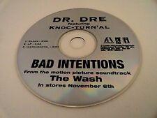 Dr. Dre BAD INTENTIONS Feat. Knoc-Turn'al (Promo Maxi CD Single) (2001) RARE