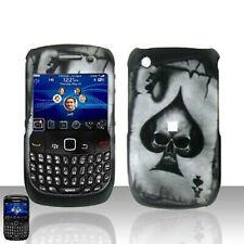 Spade Skull Hard Case Cover for BlackBerry Curve 8530