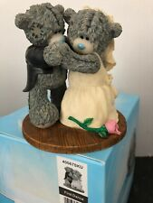 FIRST DANCE - RARE BOXED ME TO YOU TATTY TEDDY BEAR WEDDING FIGURINE CAKE TOPPER