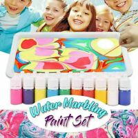 Marbling Painting Kit DIY Painting on Water Creative Art 6 Gifts Colors B3C2