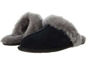 UGG Women's Scuffette II Slipper 1106872 Black Grey Sz 5-12 NEW