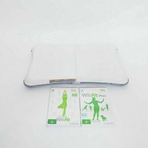 Nintendo Wii Fit Balance Board + Wii fit + Wii Fit Plus Games - Free Postage